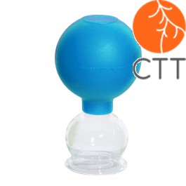 HerbaChaud® ventouse en verre avec ballon,  en 5 grandeur diff.