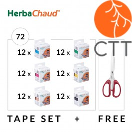 HerbaChaud Bandes - Set 72 rouleaux de 5cm x 5m + ciseaux