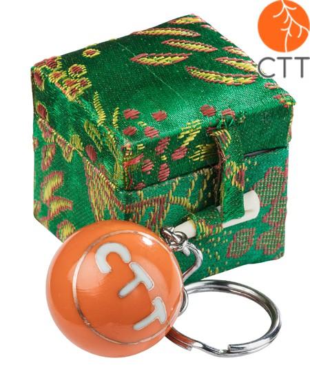 porte clé motive CTT, avec son et box, orange
