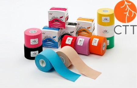 tapes kinésiologique NASARA, 5cm x 5m en 9 couleurs
