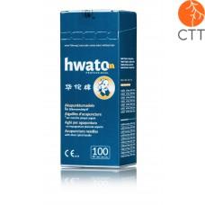 HWATO sans tube et sans silicone, manche spirale argenté, 100 aiguilles par box