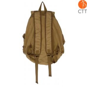 Shoosh Canvas Backpack Rucksack, 100% Canvas soft, couleur khaki, Eco friendly,