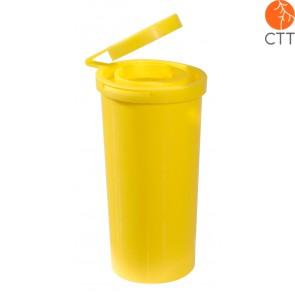 Récipient pour récupération d´aiguilles plastic, 0.5 litre