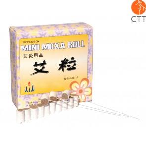 Mini Sticks de moxa pré coupés pour aiguilles d´acupuncture,
