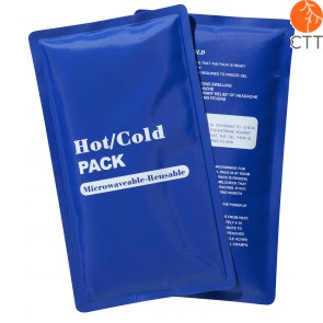 Cold Hot pack, reusable, bleu, 23 x 13cm, avec textile