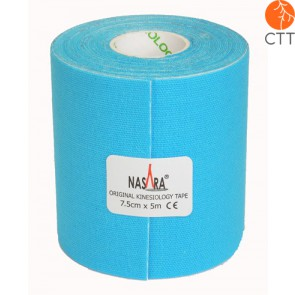 bandes de NASARA®, bleu, 7.5cm x 5m, extra large