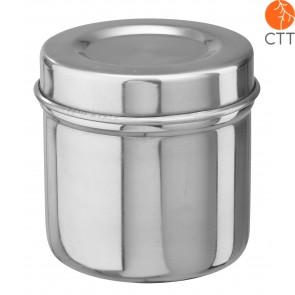 boîte en acier (pour boulettes de ouate) avec couvercle 13 x 16 cm