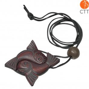 talisman harmonie en bois de cèdre de Sibérie