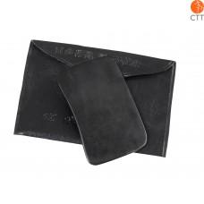 Grattoir pour massage Gua Sha, rectangulaire, taille: M, environ 8 x 4,8 cm, couleur noire