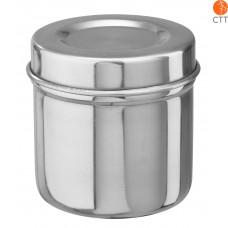 boîte en acier (pour boulettes de ouate) avec couvercle 8.5 x 8.5cm