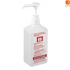 MANOFERM 500ml, avec pompe de dosage, pour désinfection mains et peau, sans alcool ou d'autres substances toxiques