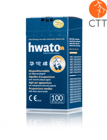 Original HWATO needles, fully gold plated, 0.25 x 25 mm, silicone free, 100 pcs.