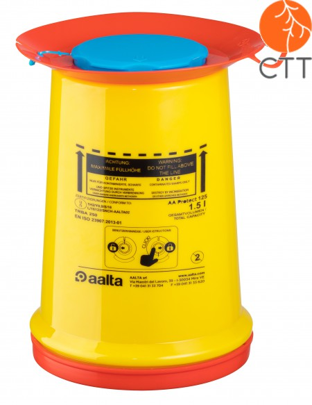 PROTECTION sharps/needle container box 1500 ml