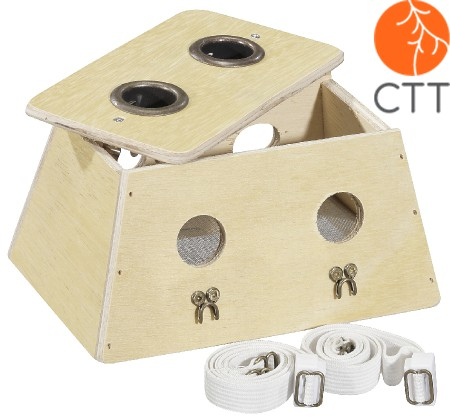 Moxa Box, Wooden, Top Quality with 2 wholes, medium