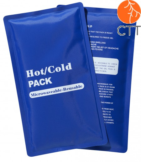 Cold Hot reusable pack, blue, 23 x 13cm with textile