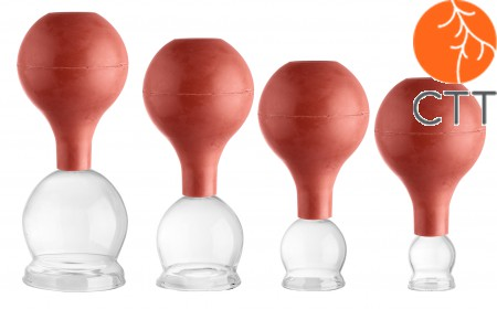 Cupping Glas with ballon set 4 pcs. ,Ø 2.5, 3.5, 4.5, 5.5cm,