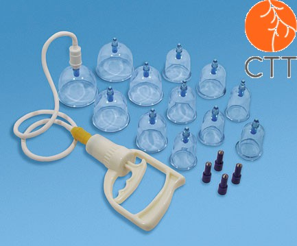 Multifunctional magnetic Cupping Instrument Set, 12 cups (acryl)