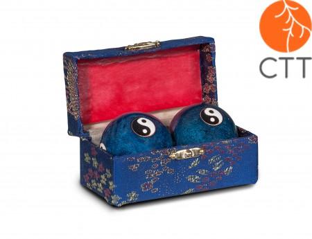Original Chinese Qi-Gong balls Yin & Yang  4cm, blue