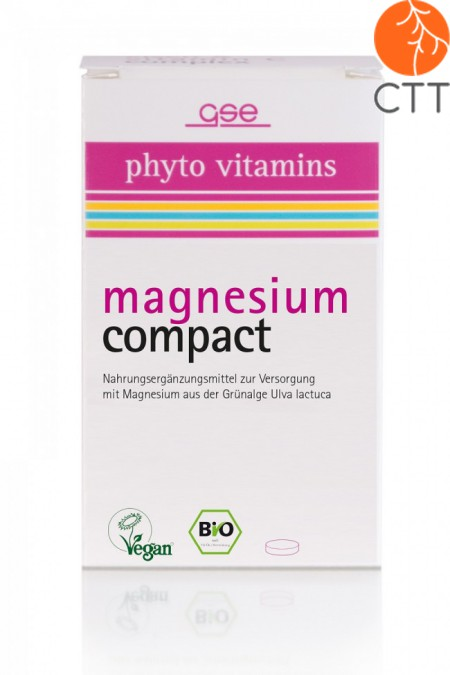 Magnesium Compact BIO, vegan, 60 tablets of 615mg, vegan, gluten free, lactose and preservatives free