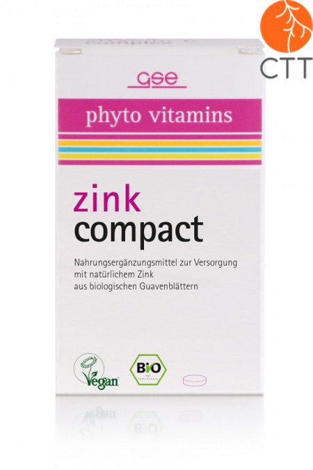 ORGANIC Zinc Compact, vegan, 60 tablets each 500mg