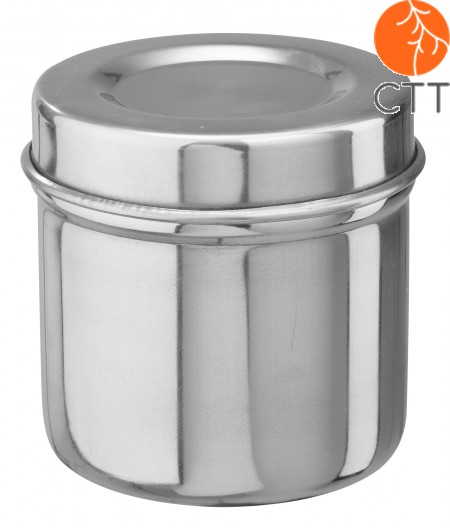 Stainless steel jar for cotton balls, with lid  13 x 16cm, 2.6 liter