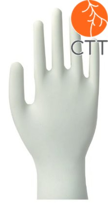 Nitrile disposable gloves, white, powder-free, 100 pieces per box
