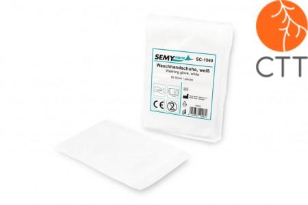 Washing gloves, white, 15 x 23cm, box of 1000 pcs.- super soft