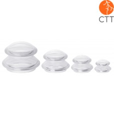 Silicone cupping jars set + 1 bottle JojoSkin 60ml free