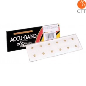 ACCU BAND magnetic pellets, 6000 Gauss, 12pcs, gold plated