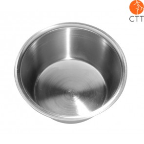 medicinal bowl in stainless steel, 13.5 cm x 5 cm