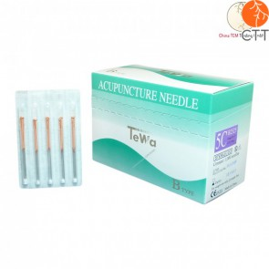 TeWa 5CB-Type Speed Pak needles, copper handle, 1000 needles per box, 5 needl. per tube, silicon coated