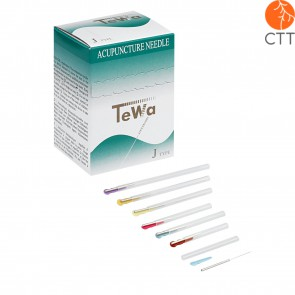 Acupuncture needles TeWa JJ-Type, metal handle, japanese style, with guide tube, 100 needles per box
