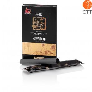 HUASUN Moxa stick, low smoke moxa cigars, Ø 1.5 x 12cm, 5 pcs per box