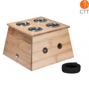 Moxa Box, Wooden, Top Quality with 4 wholes, medium