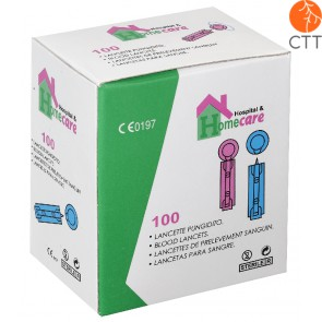 Blood lancets, 100 pieces per box