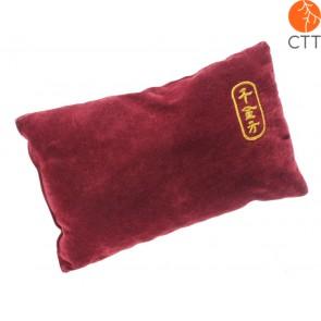 luxury PULS PAD, dark red velvet cover, 25cm x 15cm x 8cm