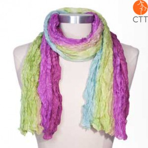 Silk scarf Flower FLOWER DREAM, 100% natural silk from India