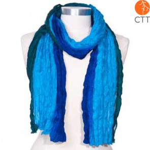 Silk scarf OCEAN, 100% natural silk from India