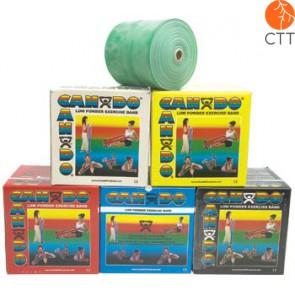 Cando® Exercise tape, 46m x 12,7 cm, green, medium heavy