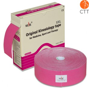 NASARA Physio Tape, rose, 5cm x 32m, clinical use