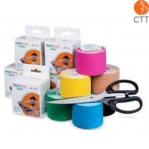 HerbaChaud® Kinesio tape STARTER SET, 12 rolls + cissor