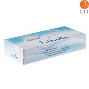 100 facial tissues per box, 2 plies white