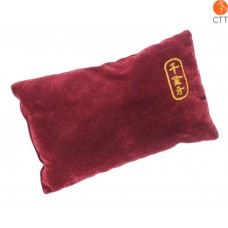 luxury PULS PAD, dark red velvet cover, 25cm x 15cm x 8cm
