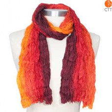 Silk scarf SUNSET, 100% natural silk from India