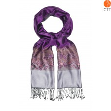 Silk scarf Deluxe BELLEZZA, 100% natural silk from India