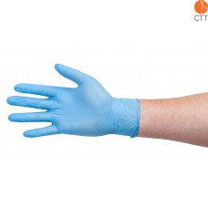 Disposable Nitrile Examination Gloves, blue, non-sterile, powderfree, box of 100 pieces, in 4 sizes
